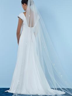 S154 sluier, poirier, bruidsaccessoires