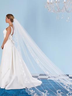S136 sluier, poirier, bruidsaccessoires