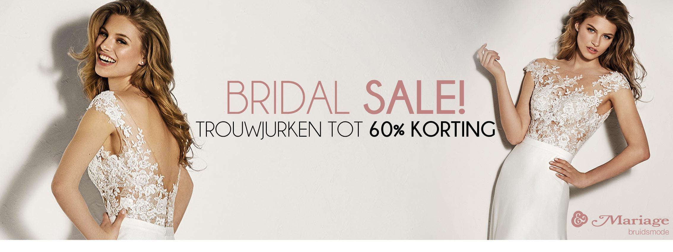 Bridal sale! - trouwjurken tot 60% korting!