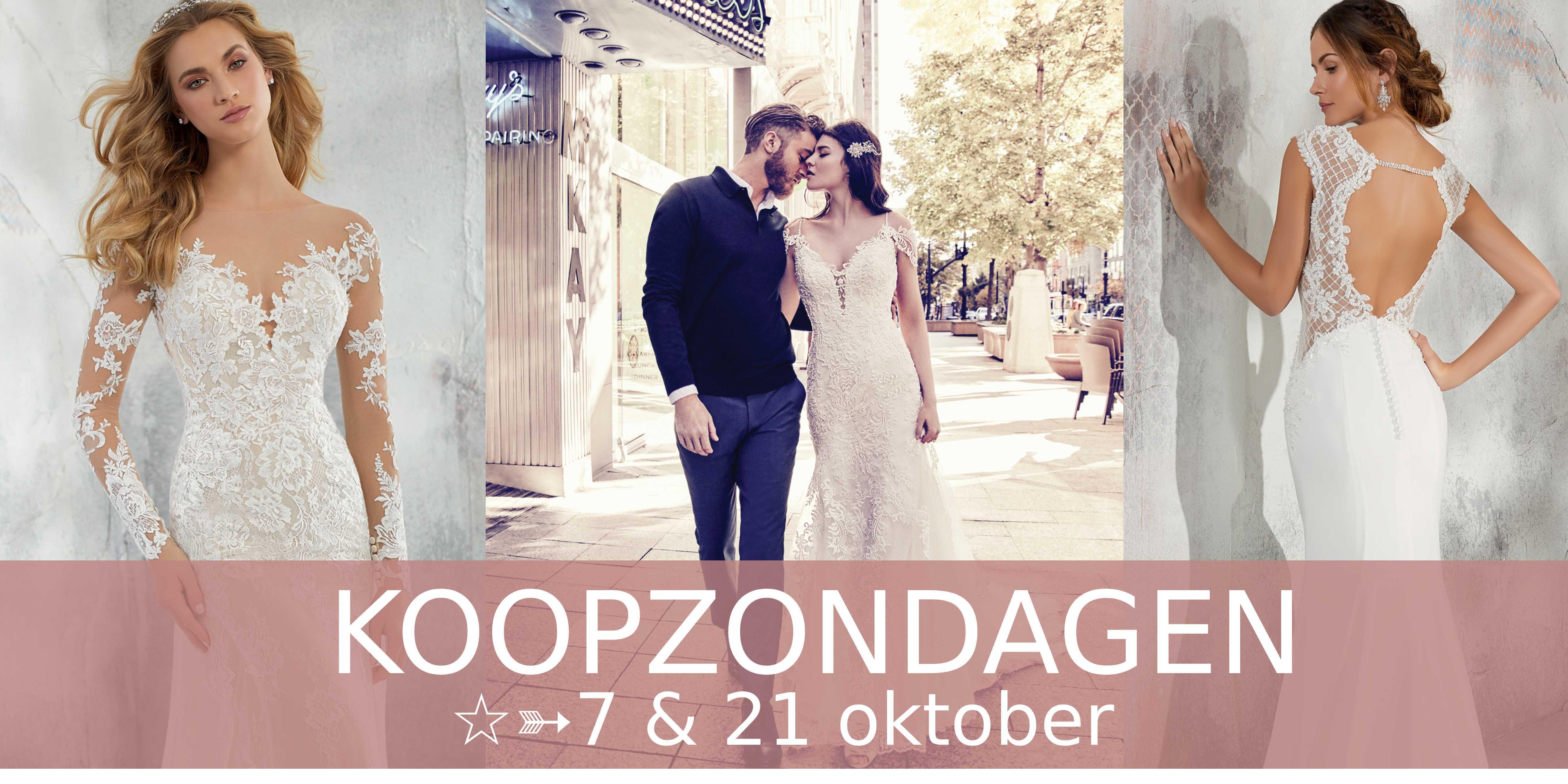 koopzondag, bruidsmode, trouwen, trouwjurk, bruidsjurk, trouwkostuum