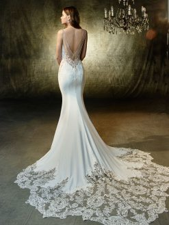 Lena, Blue by Enzoani, trouwjurk, bruidsjurk, trouwen, verloofd, bruidszaak, mariage bruidsmode;