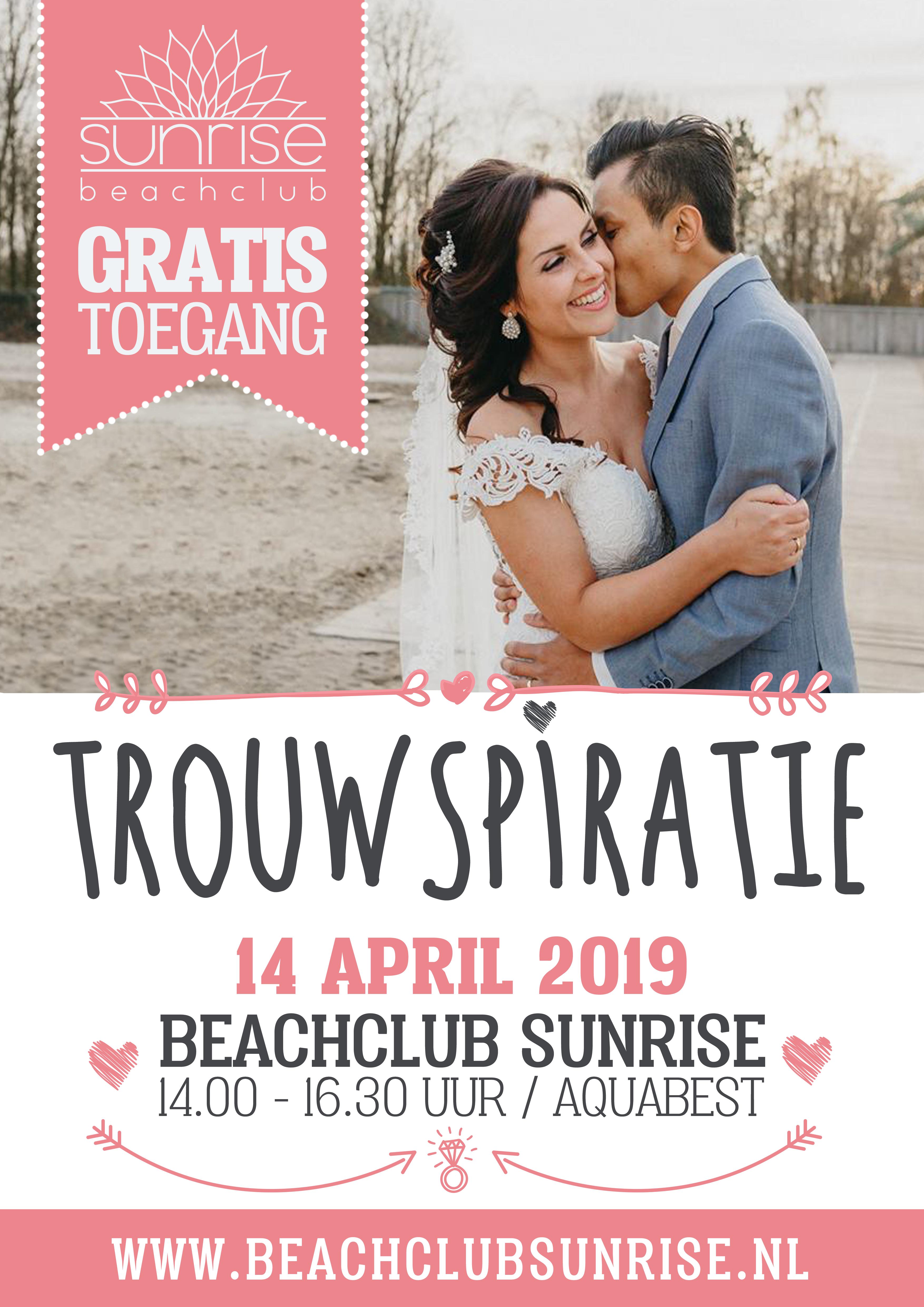 trouwspiratie beachclub sunrise, aqua best, weddingbeurs, trouwbeurs, trouw inspiratie